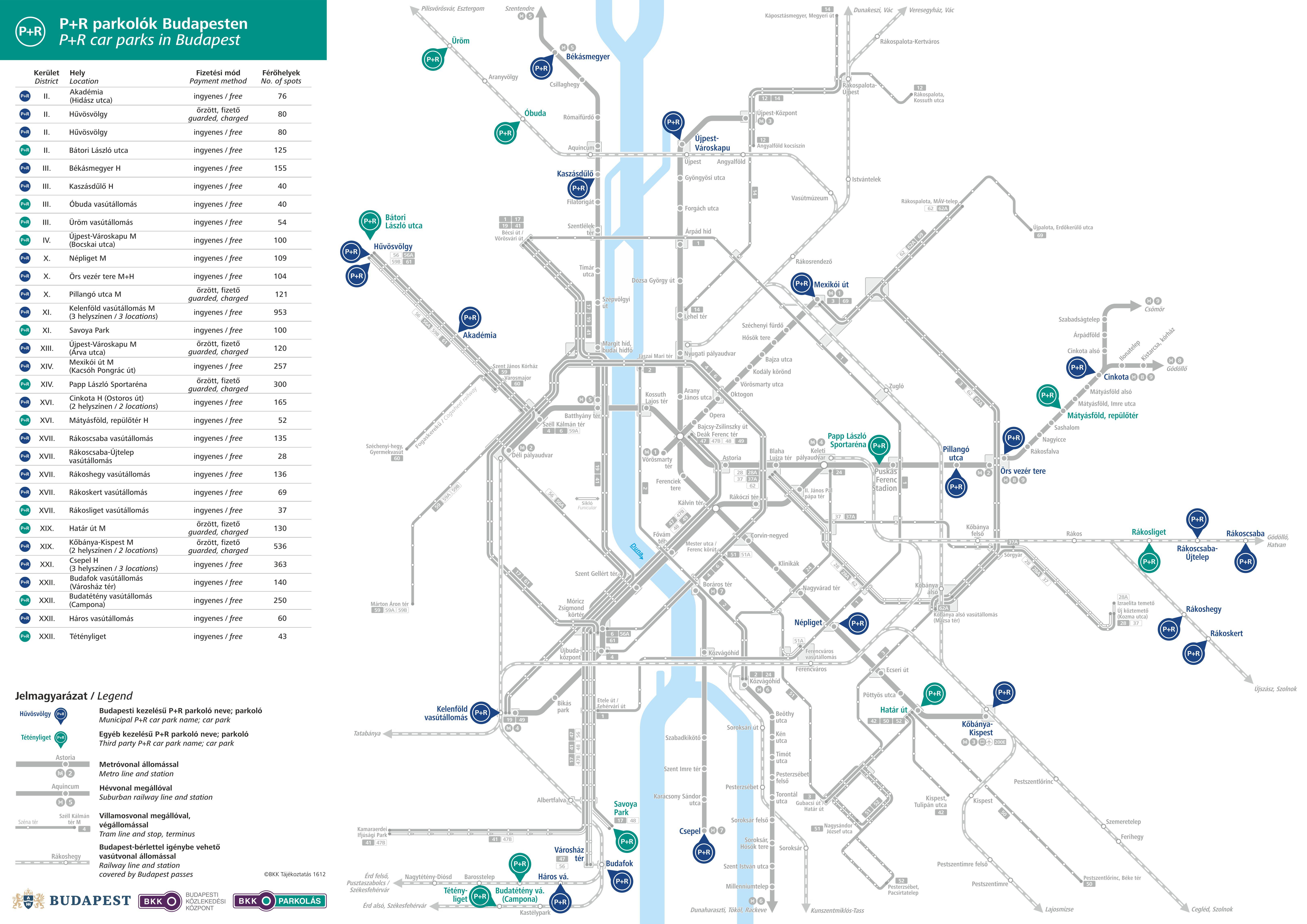 parkolóház budapest térkép P+R parkolók Budapesten   Budapesti Közlekedési KözpontBudapesti  parkolóház budapest térkép