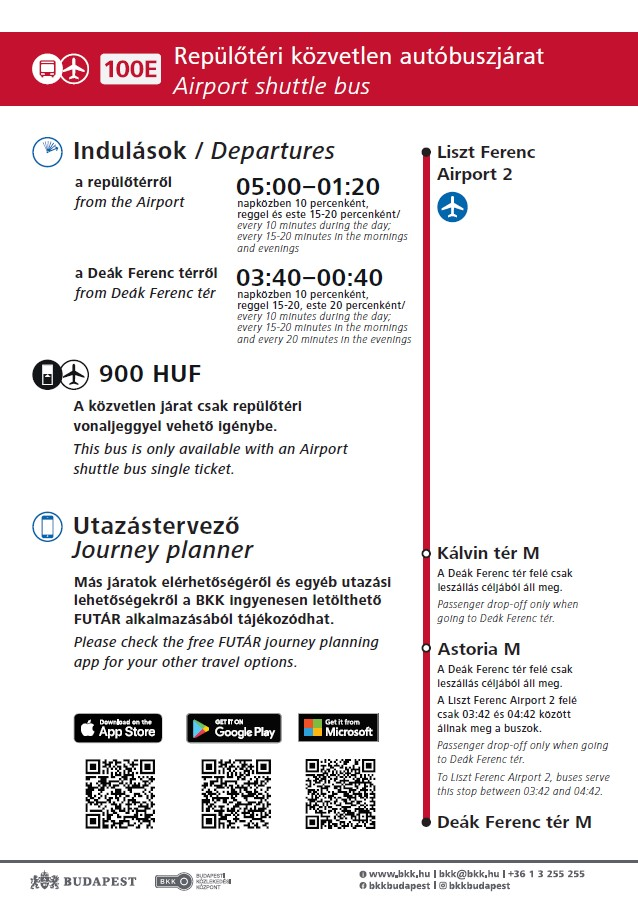 Airportcity centre shuttle bus service Budapesti Kzlekedsi