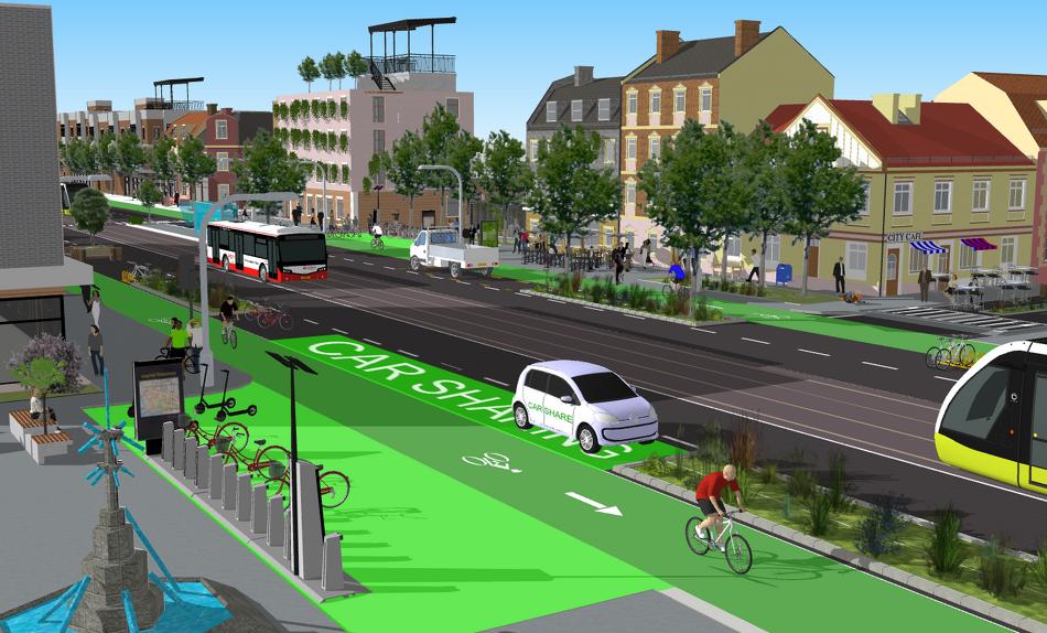 Egy elképzelés az ideális 2030-as budapesti utcaképre